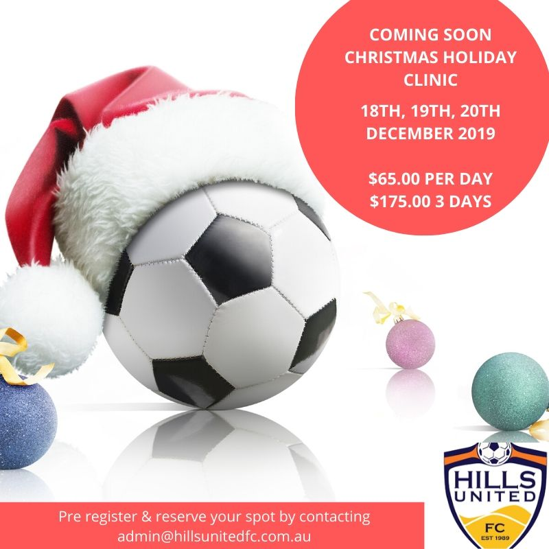 Christmas Holiday Clinic - December 18th, 19th, 20th